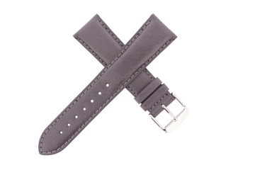 21mm Leather Anthracite Metallic
