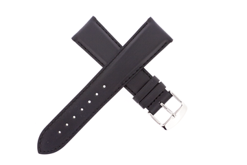 21mm Leather Black Satin