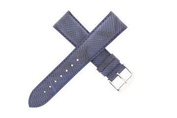 21mm Leather Nubuck Patchwork Blue Jean