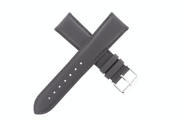 21mm Leather Rubberized Dark Seal Grey