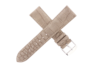 21mm Leather Alligator Grain Sanded Taupe