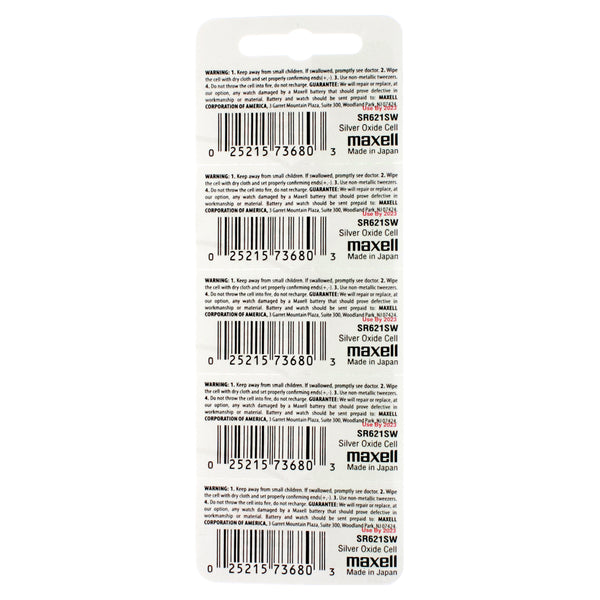 364 Maxell Watch Battery - IEC: SR621SW