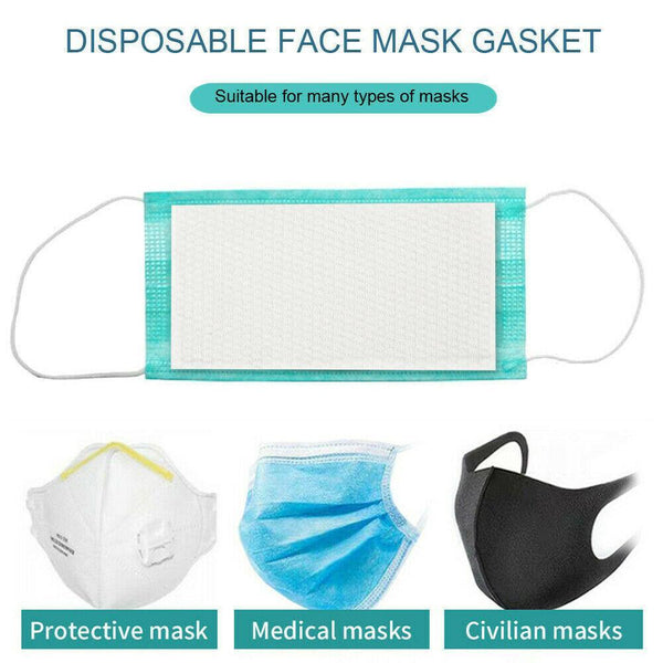 3 Layer Protective Filters for Masks - Disposable - 100 Pack