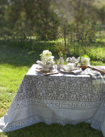Artisan Block Print Tablecloth