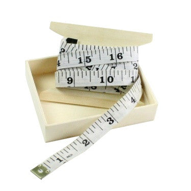 Vinyl Tape Measure - White with Black Print