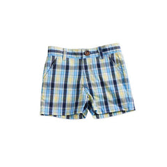 100% Cotton Poplin Plaid Short + Adjustable Waist
