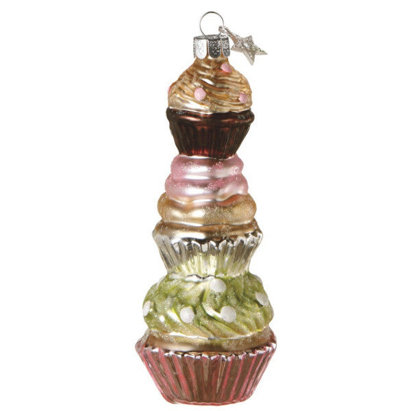 Stacked Cupcake Ornament.