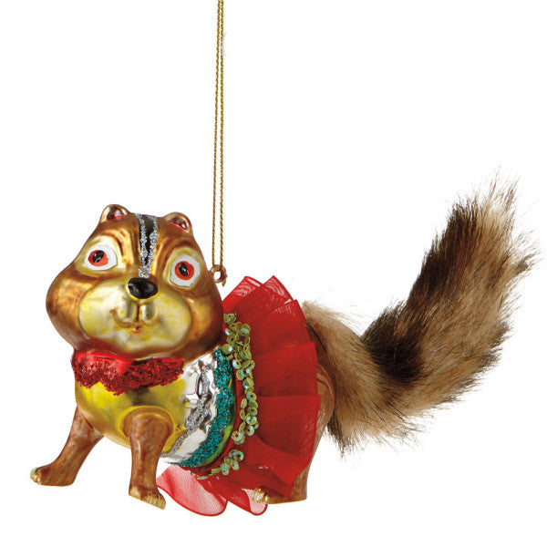 Festive Chipmunk Ornament