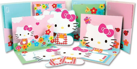 Flower Hello Kitty Pop-Up Notecard Portfolio