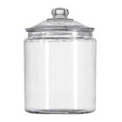 1 Gallon Glass Jar with Lid + 4 Pack