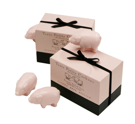 Three Little Piglet Soaps