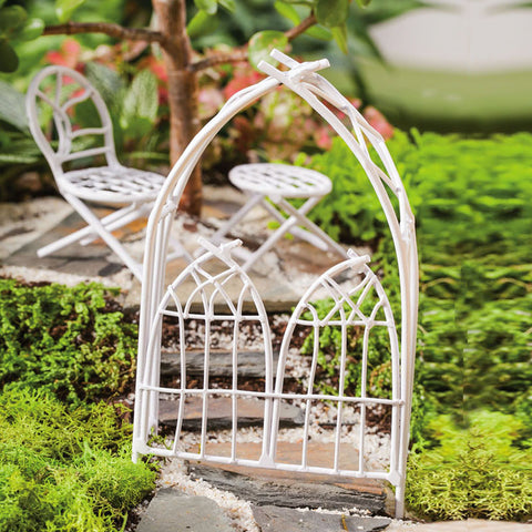 Fairy Garden Arbor, White Twigs
