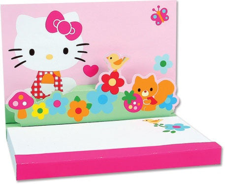 Pretty Flowers Hello Kitty Pop-Up Notepad