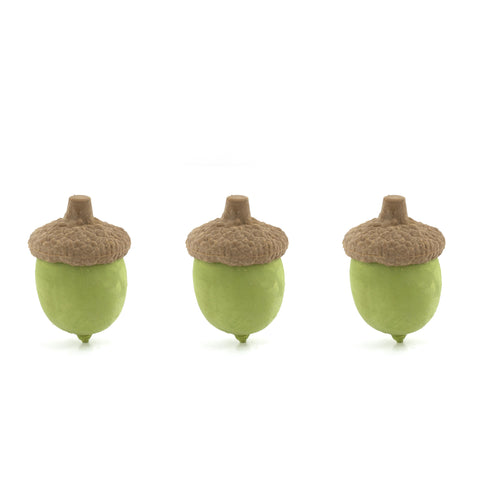 Acorn Erasers, Set of 3