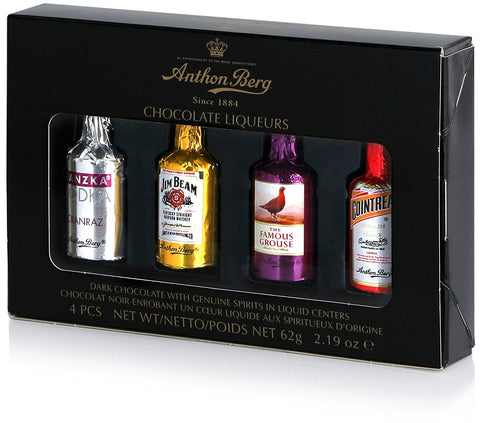 Anthon Berg Assorted Chocolate Liqueur + Cocktail Bottles