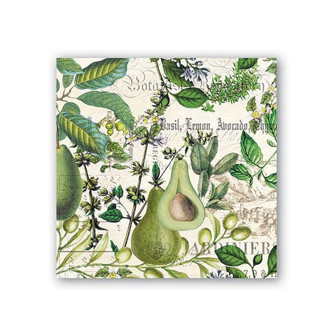 Avocado Cocktail Napkins