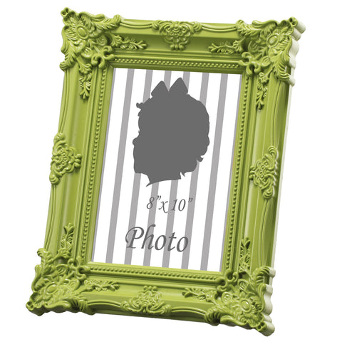 "Baroque Photo Frame, Green 8x10"" Opening"