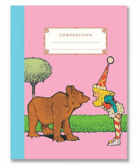 Bear and Candy Girl Composition Notebook