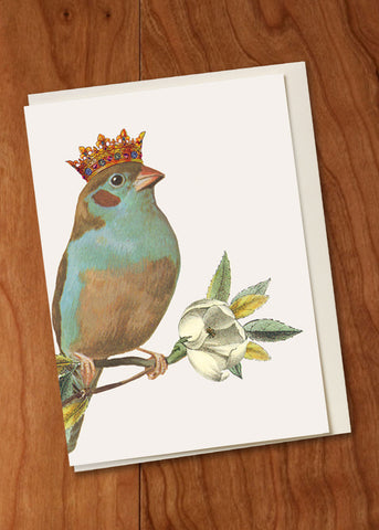 Bird with Crown Mini Card