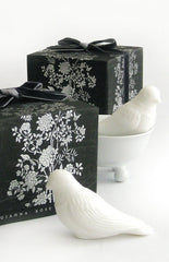 Two Perched Bird Soaps + Soap Dish