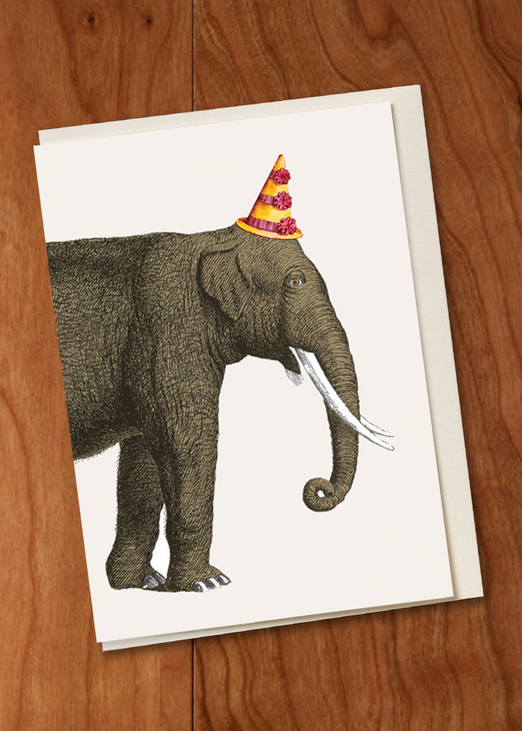 Birthday Elephant Mini Card
