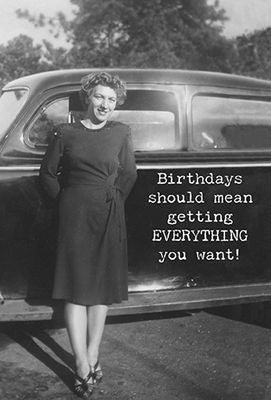 Greeting Card - Birthdays