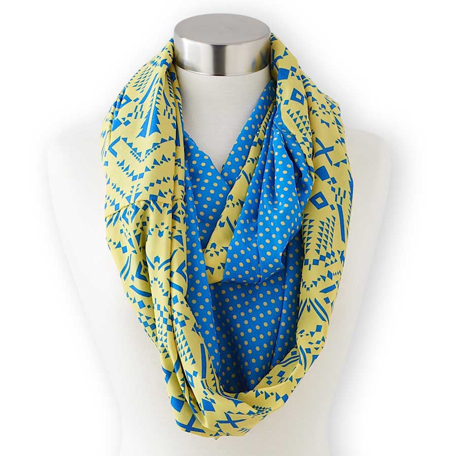 Blue +Yellow Infinity Scarf