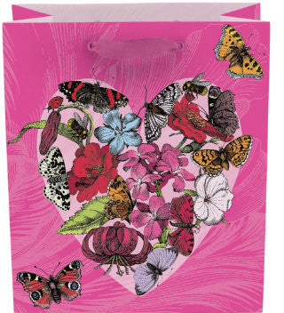 Butterflies + Heart Gift Bag