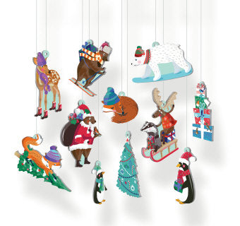 Chalet Snow Decoration Set