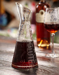 CHEERS Etched Glass Decanter