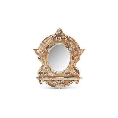 Cream Wood Framed Mirror
