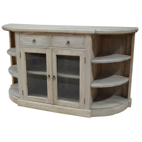 Durian Cabinet With Open Shelves