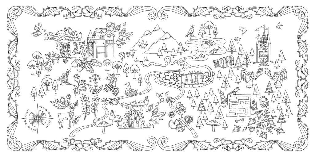 Enchanted Forest An Inky Quest Amp Coloring Book By Johanna