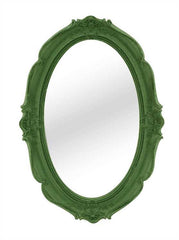 Flocked Framed Mirror