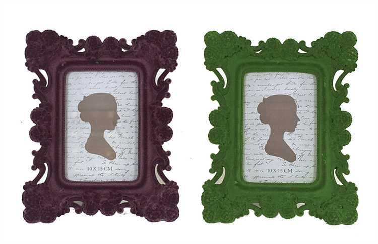 Flocked Picture Frames, 2 Colors