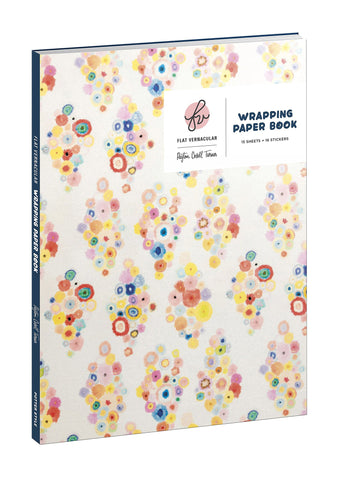 Flat Vernacular Wrapping Paper Book: 15 Sheets + 24 Gift Tags