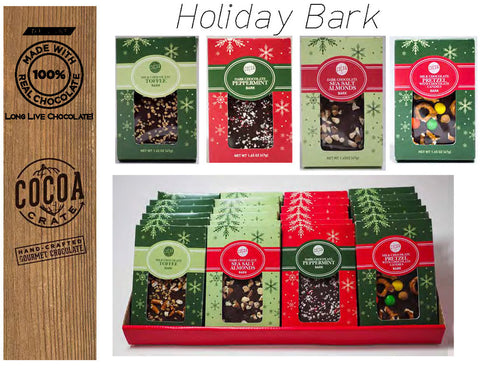 Holiday Chocolate Barks from Cocoa Crate