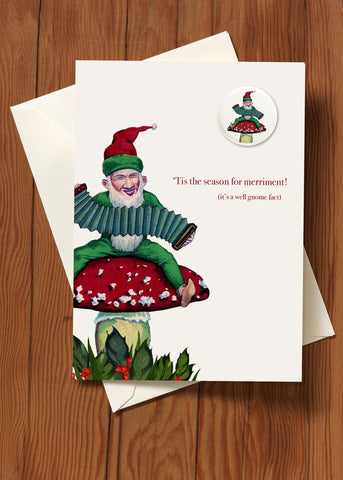 Get Happy! Gnome • Holiday Greeting Card