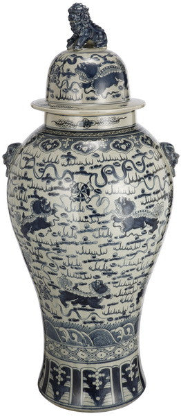 Large Ginger Temple Jar