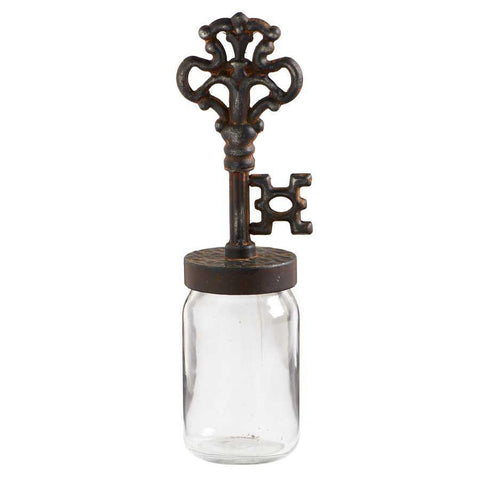 Glass Jar with Metal Key Top