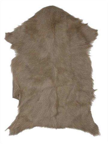 Sustainable Goat Fur Rug, Natural Tan