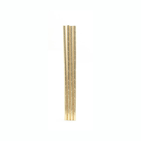 Gold Metallic Straws 144 Per Box