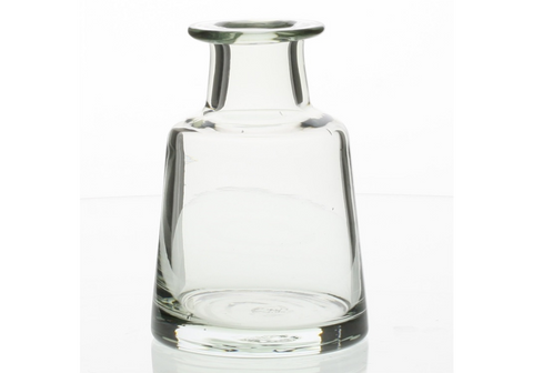 Graduated Glass Vase - Tall Body - Clear