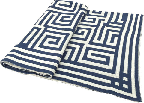 Greek Key Jacquard Throw