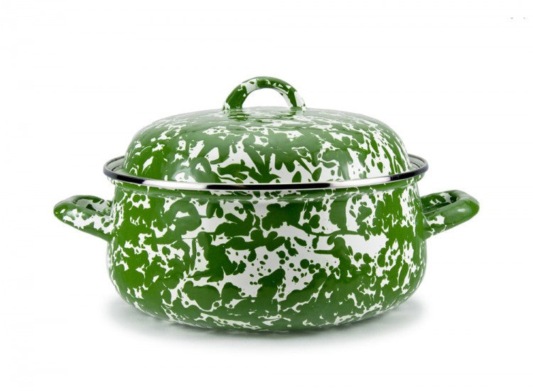 Golden Rabbit's Green Swirl Dutch Oven