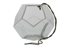 Hanging Dodecahedron Vase - Large - Clear