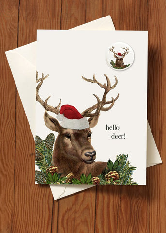 Hello Deer! • Holiday Greeting Card