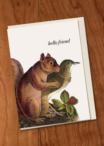 Hello Friend Mini Card