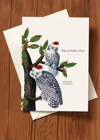 Hope Your Holiday's a Hoot! • Holiday Greeting Card