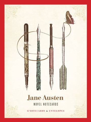 Jane Austen Novel Notecards: 16 Notecards and Envelopes